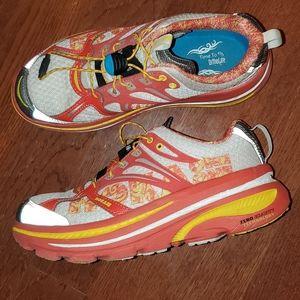 Hoka Sneakers Orange White